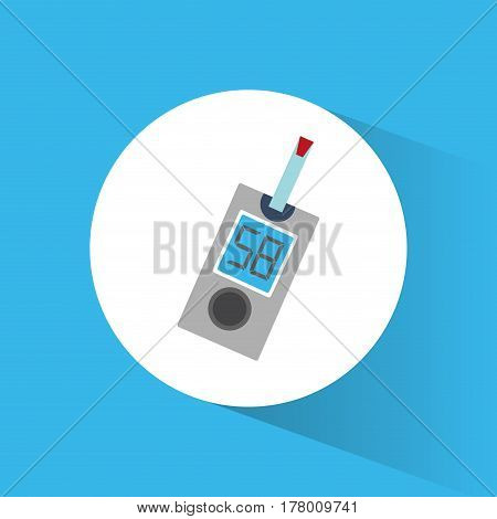 diabetes test blood device vector illustration eps 10