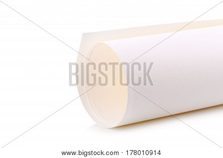 Close Up of Rolled Up Piece of Paper.