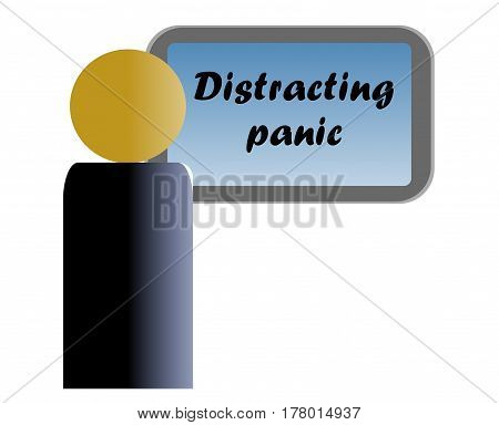 Philosophical phrase that helps us to understand why the attraction of television: It makes us distract the existential panic, we silk.