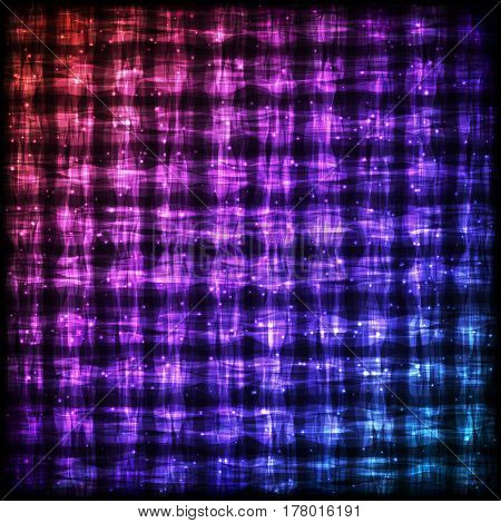Glowing Checkered Pattern with Light Effect. Colorful Bright Abstract Background for Site, Web, App, Program.