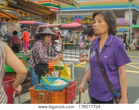 Ruifang Taiwan - October 05 2016: Typical local bazaar in Taiwan with lots of local products