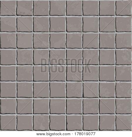 Vector Seamless Rectangle Pavement Pattern. Vector illustration