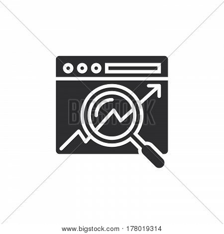 Search optimization icon vector filled flat sign solid pictogram isolated on white logo illustration
