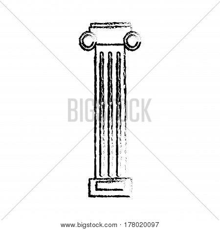 column pilaster ornament sketch vector illustration eps 10