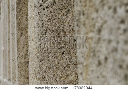 Close Up Of Rough Rock Wall Of Selimiye Mosque In Edirne, Turkey.