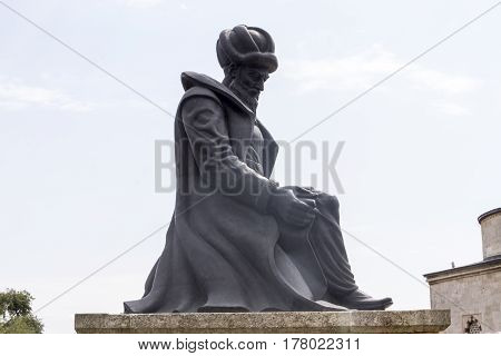 Statue Of Master Ottoman Architect Sinan In Edirne Turkey