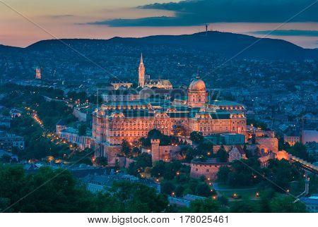Buda Castle is a famous landmark in Budapest Hungarya