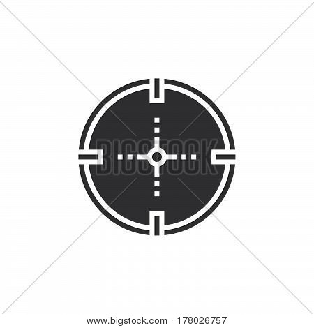 Aim target icon vector filled flat sign solid pictogram isolated on white logo illustration