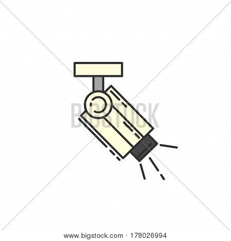 Surveillance Camera vector flat icon. Sign for infographic website or app.