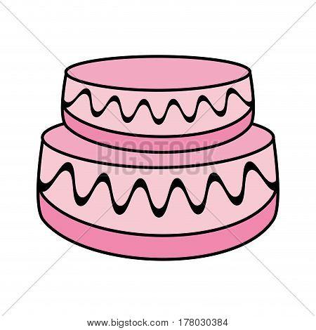 cartoon cake wedding dessert vector illustration eps 10