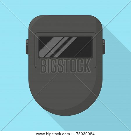 Welder mask icon. Individual protection equipment. Vector illustration