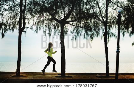 Woman Running Exercise Active Strong Wellness Healthcare