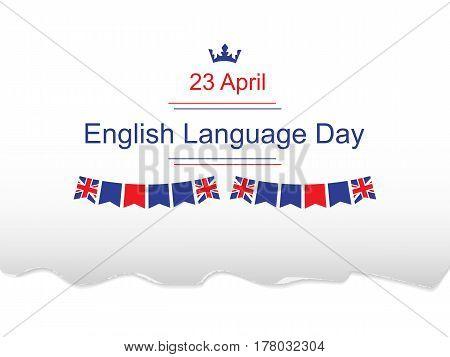English Language Day vector illustration. 23 april