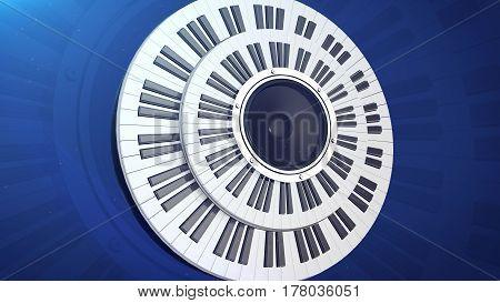 3d rendering of Beautiful Grand Piano Keys