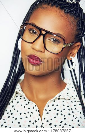 Pretty Young African Woman Pouting At The Camera