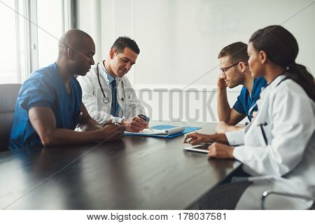 Multiracial Medical Team Having A Meeting