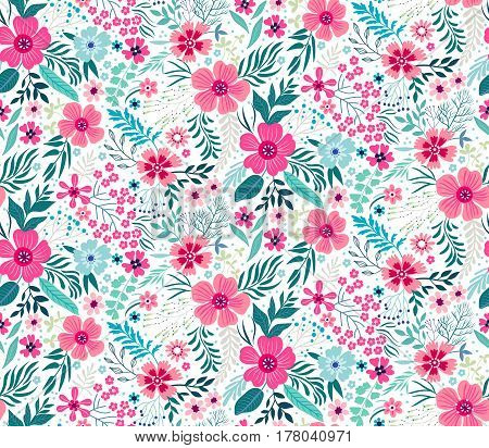 Floral pattern vector photo free trial bigstock floral pattern pretty flowers on white backgroung printing with small scale pink flowers mightylinksfo