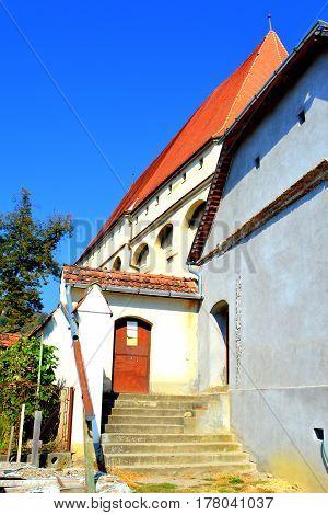 Medieval fortified saxon church Saschiz Keisd, Transylvania. The fortified church is a church in Keisd Wurmloch in the Transylvania region of Romania. It was built by the ethnic German Transylvanian Saxon community.