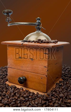 Coffee Mill With Beans