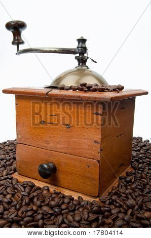 Coffee Grinder And Beans