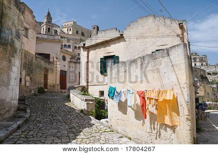 Panoramic view of Matera. Basilicata.