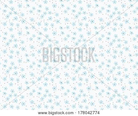 Vector seamless pattern. Cute pattern in small flower. Small blue flowers. White background. Ditsy floral background. The elegant the template for fashion prints.
