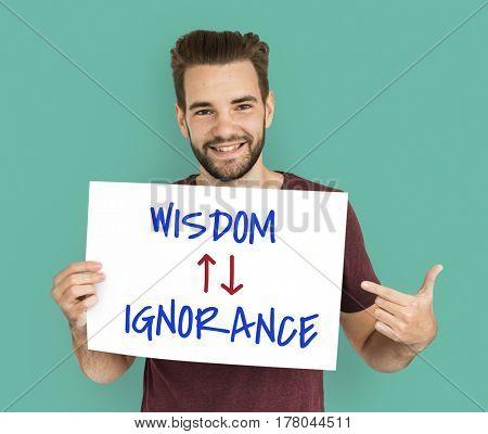 Proficiency Antonyms Wisdom Ignorance Illustration