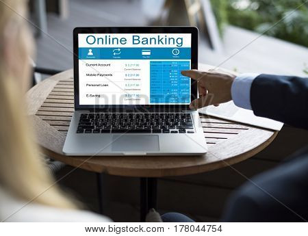 Technology Online Banking Services Illustration
