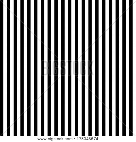 Seamless wallpaper pattern with vertical stripes. Modern black and white texture. Vector background