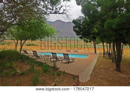 Panoramic Pool at the Entabeni Game Reserve in South Africa October 2014