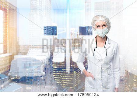 Woman Doctor In A Ward, Window