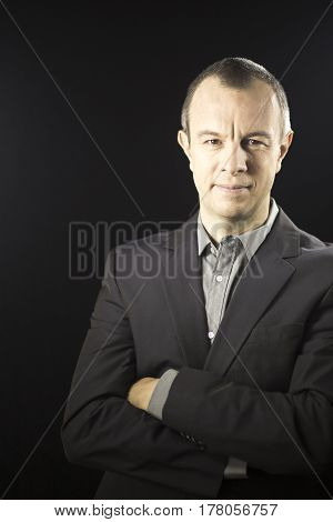 Businessman In Suit No Tie