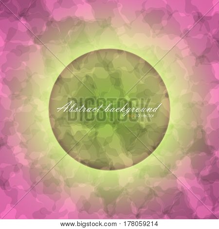 Glowing circle on abstract of blurred texture background with gradient backdrop. There is example of inscription for your text