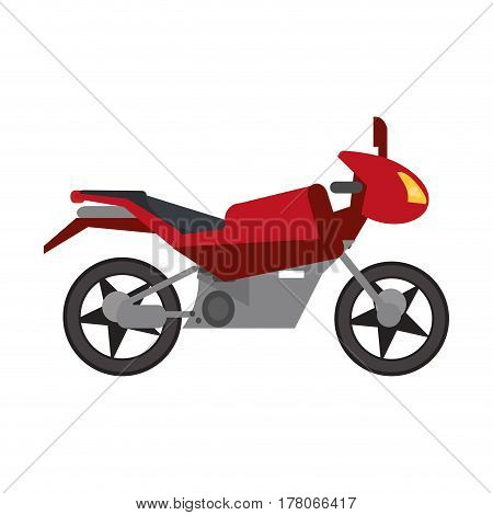 red motorcycle transport style vector illustration eps 10