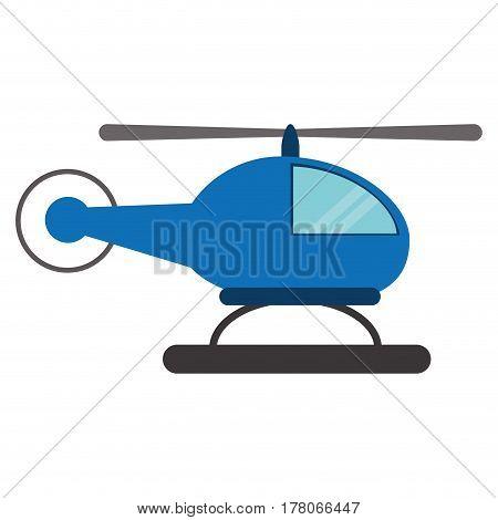 blue helicopter transport fly vector illustration eps 10