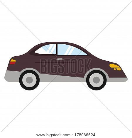 car sedan vehicle transport vector illustration eps 10