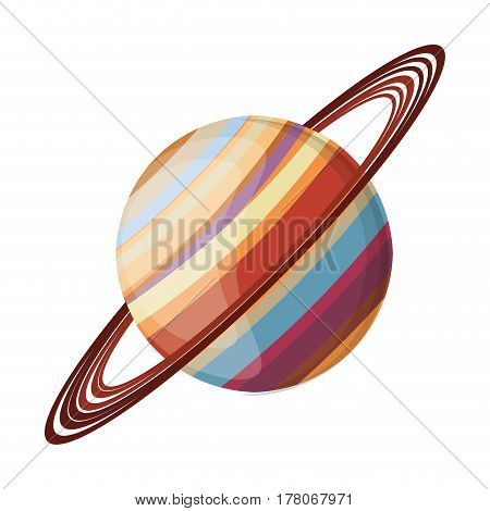 saturn planet space image vector illustration eps 10