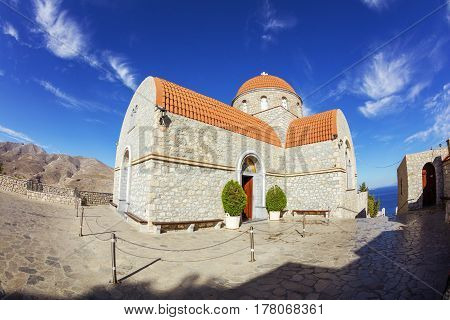 Monastery of Agios Savvas Pothia capital of Kalymnos Dodecanese Greece