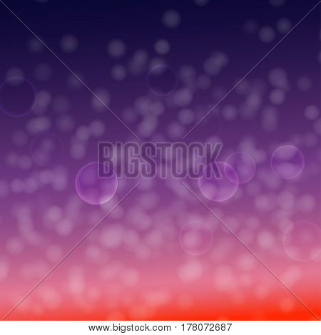 White light cloudy circles and halo on purple and red gradient background