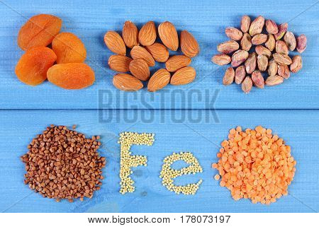Products And Ingredients Containing Iron And Dietary Fiber, Healthy Nutrition