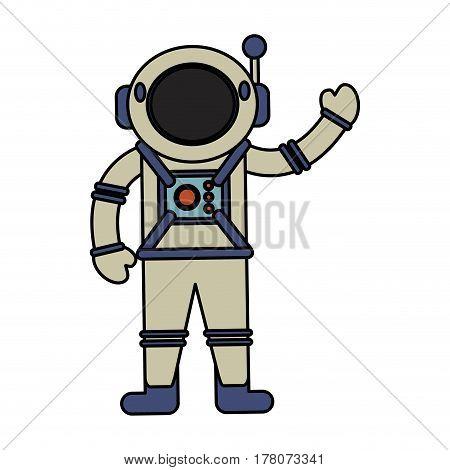 astronaut spacesuit helmet antenna vector illustration eps 10