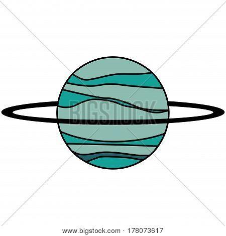 uranus planet solar system vector illustration eps 10