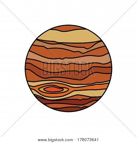 jupiter planet system solar vector illustration eps 10