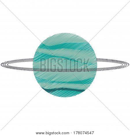drawing uranus planet solar system vector illustration eps 10