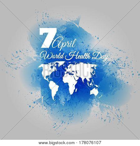 World Health Day Dirt Blue Design Vector Illustration Eps 10