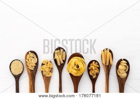 Pasta Selection Of Penne, Gnocci, Rigatoni, Casarecce, Fiorelli, Pasta Farfalle, Pasta A Riso, Orecc