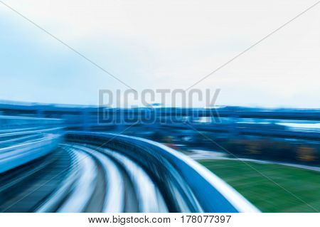 Train moving blurred motion abstract transport background
