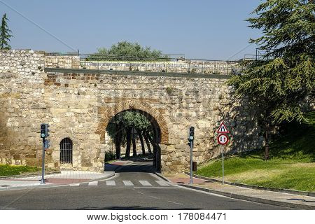 Arch of San Martin in Burgos Spain Gateway through the wall to the city