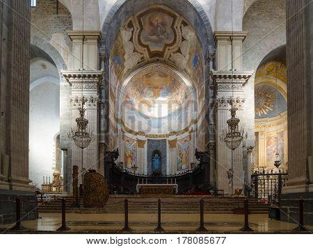 Church Interior. Cathedral Of Santa Agatha - Duomo In Catania