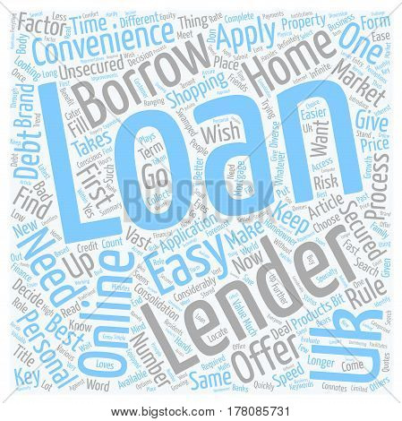 Easy UK Loans Loans Now Come Handy text background wordcloud concept